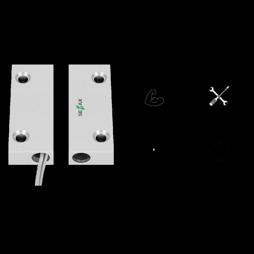 Sensor de Abertura equipamento Semax Alert - alarme para empresa / alarme de intrusão