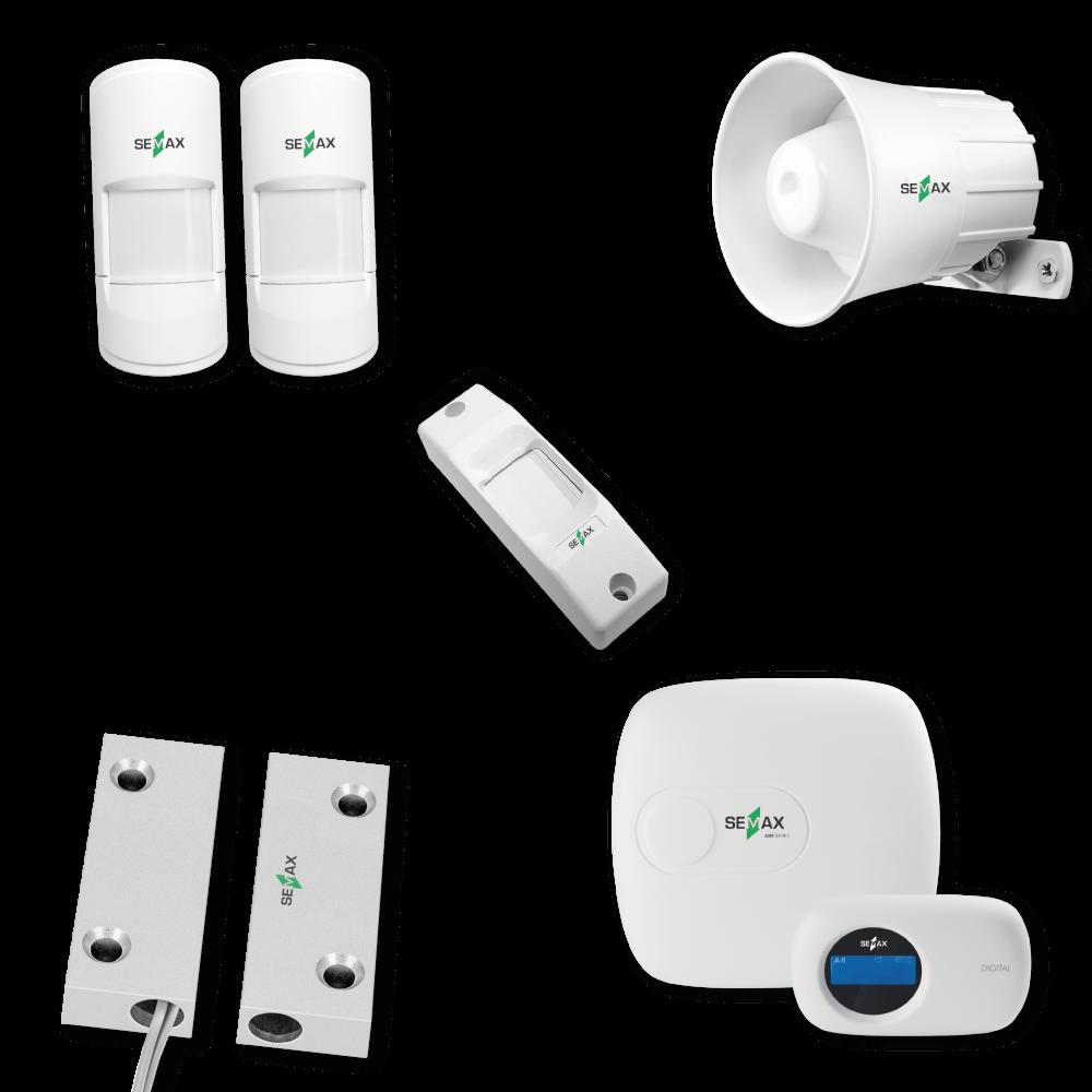 Kit de alarme completo Semax Alert - alarme e monitoramento